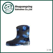 Пластиковый дождя сапоги | Унисекс резиновые сапоги | Дети четкие цвета дождя сапоги C-705