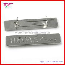 Placa de grabado de metal de alta gama para accesorios de bolsos