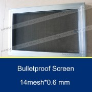 14 Mesh 0.6mm Bullet Proof Security Window Screen