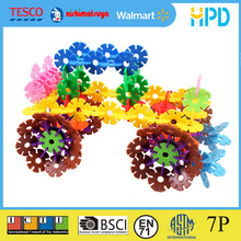 Colorful Snowflake Shaped Plastic Building Blocks