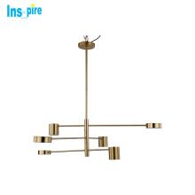 Zhongshan modern nordic adjustable light Brass gold lustre pendant lamp chandelier