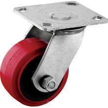 Hochleistungsschwenkplatte Polyurethan Caster Wheels