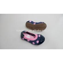 Mädchen-faltbare Ballett-flache Großverkauf-nette Kind-Ballerina-Schuhe