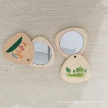 Espelho de madeira pequeno conveniente da segurança da alta qualidade