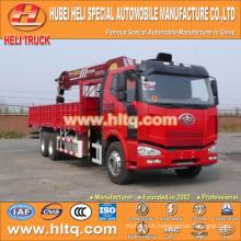 FAW 6x4 12 tons crane crane truck 280hp hot sale for export