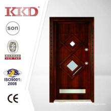 90mm Turkish Style Steel Wood Armored Door JKD-TK918 with Glass Inserted