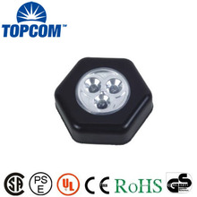 New Design 3 LED Mini Push Lamp Smart LED Push Light With Sticker