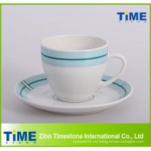 2014 Nueva taza y platillo de té del diseño