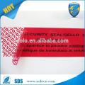 Tamper offensicht Sicherheit Aufkleber Garantie Garantie void Etikett Anti-Fälschung Dichtung Verpackung