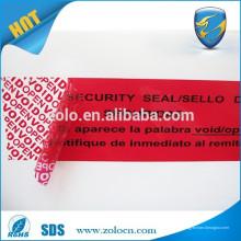 Garantia de garantia de segurança evasiva falsa etiqueta vazada embalagem de vedação anti-falsificação
