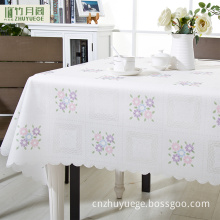 China manufacture clear plastic square tablecloth colorful pvc plastic film for tablecloth roll