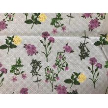 Círculo y tela de bordado de algodón de impresión digital