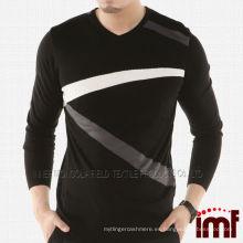 Moda suéter de cachemira de punto para hombres