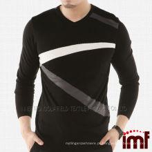 Moda Pullover Knit Cashmere camisola para homens