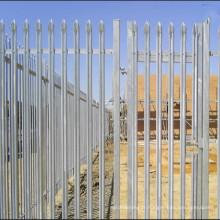Les clôtures en acier de palissade de point triple de 2.1m ont fait pour le chemin de fer