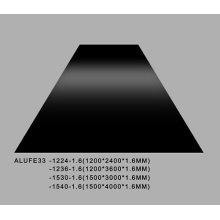Glossy Black Aluminum Sheet Plate 1.6mmThick 5052 H32