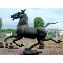 Скульптура из нержавеющей стали для скульптуры на лошадях для сада / на открытом воздухе