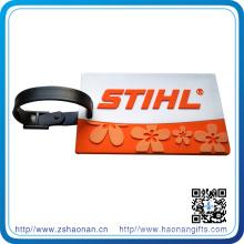 Kundenspezifischer weicher PVC-Gepäck-Bügel mit prägeartigem Logo für Geschenk