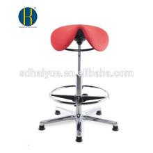 En gros rouge tissu salon de coiffure chaise de coiffeur avec mécanisme rond