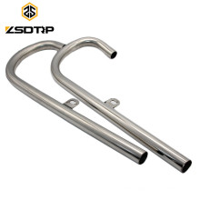 SCL-2014040113 24HP front side 750CC motorcycle universal mufflers, stainless steel motorcycle exhaust muffler
