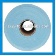 Lapeado cruzado / lana de poliéster viscosa paralela Pulpa no tejida de Spunlace de la pulpa de madera