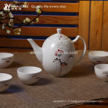 900ml Petit motif Fine Bone Chine Chinese Gongfu Tea Set, Set de thé Fabricants Chine