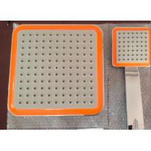 Pluma de ducha plástica de bajo precio ABS y juego de mano de plástico