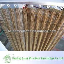 Cortina de malla de acoplamiento de cadena tejida de aluminio