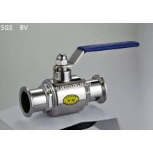 Válvula esférica de 2 vias direcional fechada sanitária de aço inoxidável
