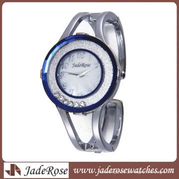 Moda bela grande mostrador do relógio mulheres pulseira de relógio