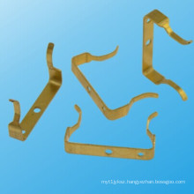 Custom Made Brass Sheet Metal Electric Part From China Factory (HS-BS-019)