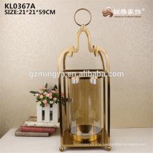 Wedding favor holiday favor restaurant decoration metal antique glass metal flower vase