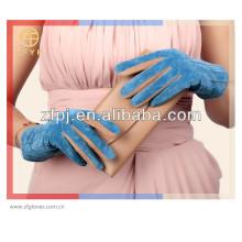 Moda guante de gamuza cuero de señora