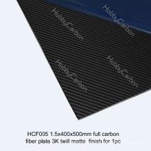 Productos calientes del corte del CNC de la hoja de la fibra de carbono de las ventas para Drone / UAV / Industry