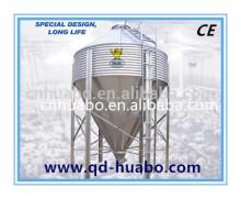 Huabo hot galvanized used grain poultry feed silo for farming euqipment