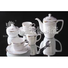 Китайская новая продукция подарки Японская китайская керамическая фарфоровая чашка и блюдце наборы для кофе и чая
