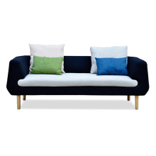 Modern Style Living Room Sofa with Soft Fabric Seat