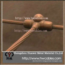 Bare copper strand oxygen free wire for lightning and earthing protection