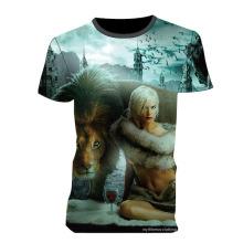 Increíble venta caliente completa sublimada camiseta