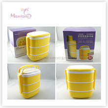 Tableware Food Grade Plastic 3 Layer Thermal Lunch Box
