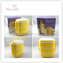 Tableware Food Grade Plastic 3 Layer Thermal Lunch Box