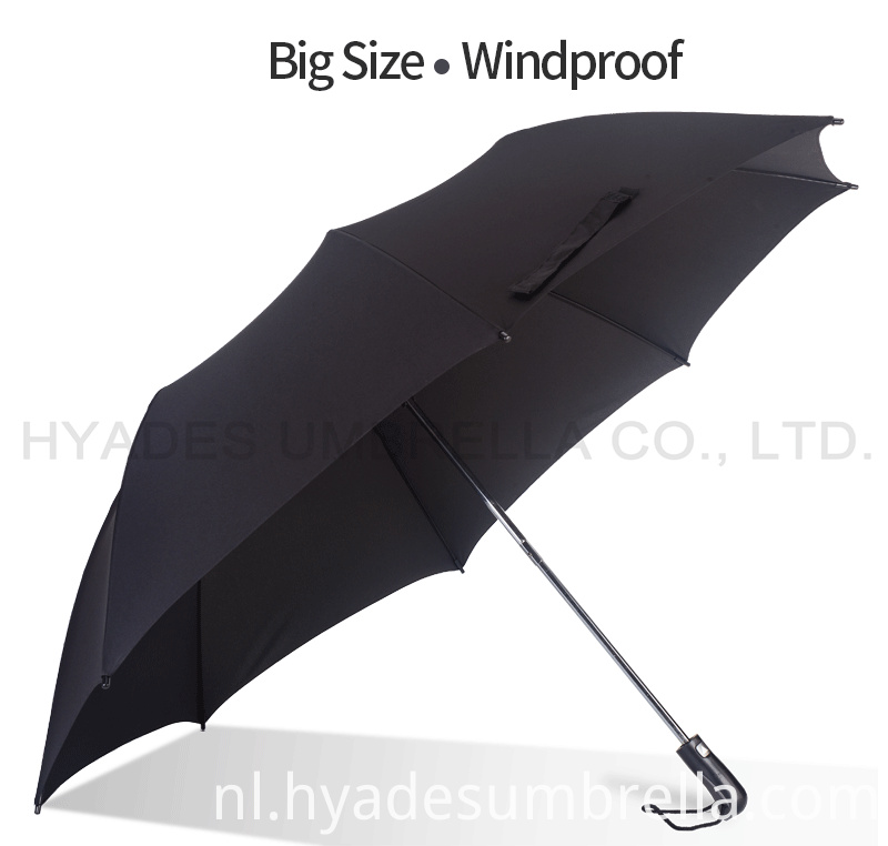 Big Size Windproof Mens Folding Umbrella