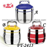 High Quality Stainless Steel Food Carrier with Plastic Lid (FT-2415)