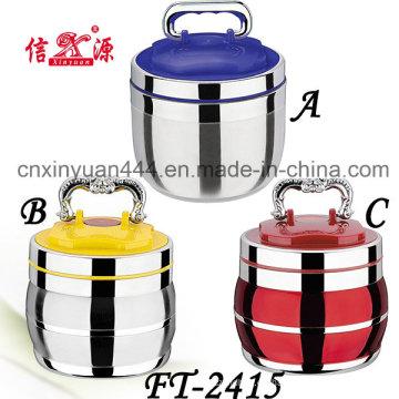 Portador de alimento de acero inoxidable de alta calidad con tapa plástica (FT-2415)