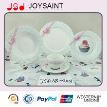 Nuevo Bone China Nuevo diseño porcelana vajilla Set placa de cerámica