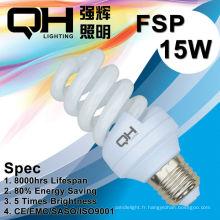 15W 8000hrs spirale pleine énergie économies d'énergie/CFL/lampe
