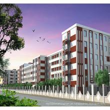 Apartamento pré-fabricado da isolação da construção de aço