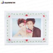 Sunmeta factory supply blank sublimation glass, heat press glass photo frame