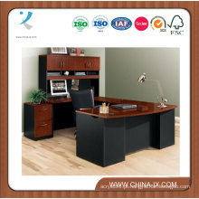 Executive Bowfront U-Desk com Hutch