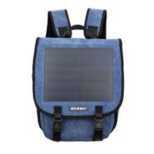 Mochila de dia solar solar de cor azul e marrom de alta qualidade